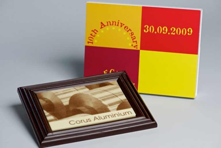 Foto op chocolade