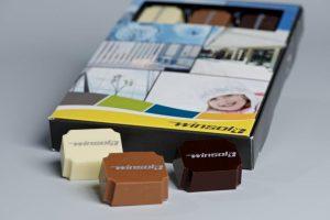 Winsol logopralines in bedrukt doosje
