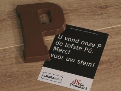 chocolade letter De Standaard