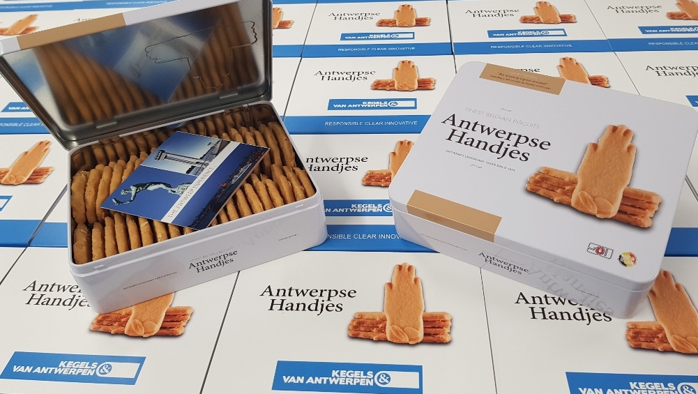 Gepersonaliseerde Antwerpse Handjes koekjes 330g Kegels en Van Antwerpen