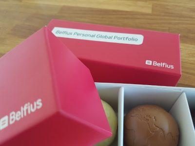 Belfius chocolade werldbollen 3x80g