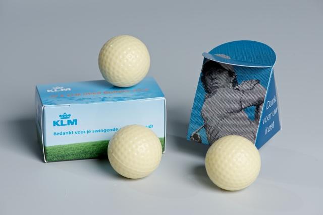 Chocolade golfballetjes KLM Open