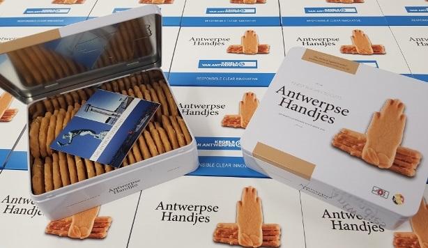 Antwerpse Handjes gepersonaliseerde koekjes 330g